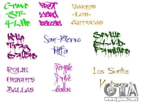 Nuevo graffiti para GTA San Andreas