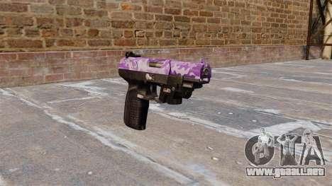 Pistola FN Five seveN LAM Púrpura Camo para GTA 4