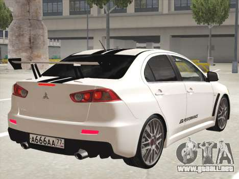 Mitsubishi Lancer Evolution X para GTA San Andreas interior