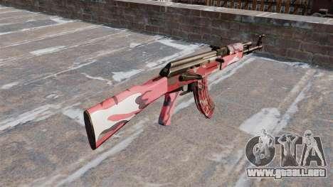 El AK-47 urbana Rojo para GTA 4 segundos de pantalla