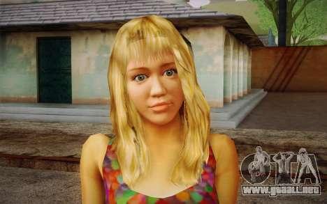 Hannah Montana para GTA San Andreas tercera pantalla