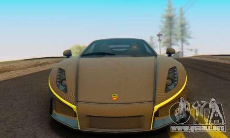 GTA Spano 2014 Carbon Edition para la visión correcta GTA San Andreas