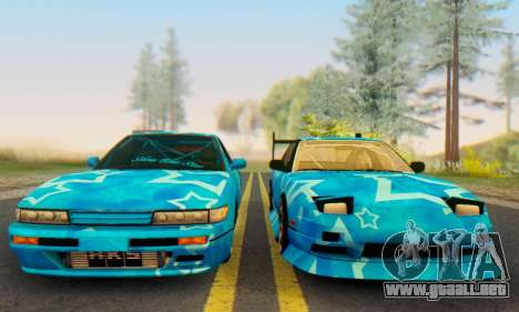 Nissan Silvia S13 Blue Star para la visión correcta GTA San Andreas