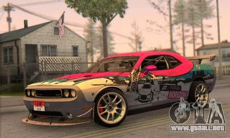 Dodge Challenger SRT8 2012 para GTA San Andreas vista posterior izquierda