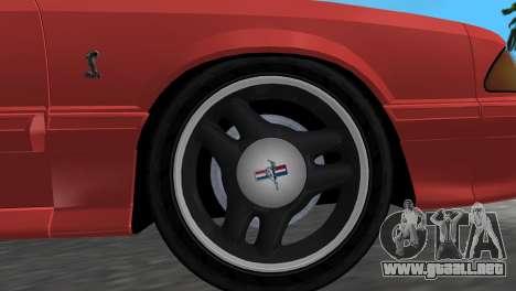 Ford Mustang Cobra 1993 para GTA Vice City visión correcta