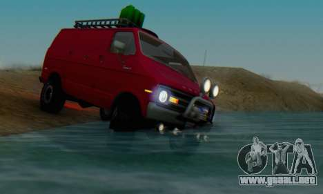 Dodge Tradesman Van 1976 para la vista superior GTA San Andreas