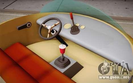 Spongebobs Burger Mobile para GTA San Andreas vista posterior izquierda