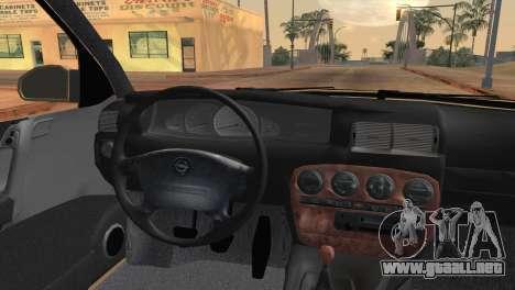 Opel Omega B para GTA San Andreas vista posterior izquierda