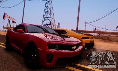 Chevrolet Camaro ZL1 2014 para vista lateral GTA San Andreas