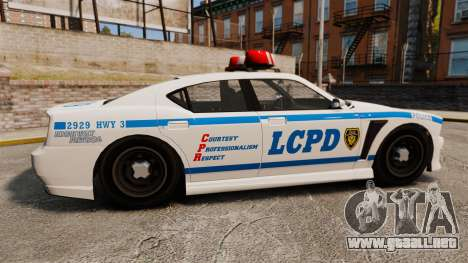 GTA V Bravado Buffalo LCPD para GTA 4 left