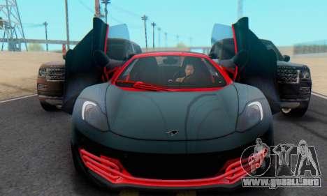 Mclaren MP4-12C Spider Sonic Blum para GTA San Andreas