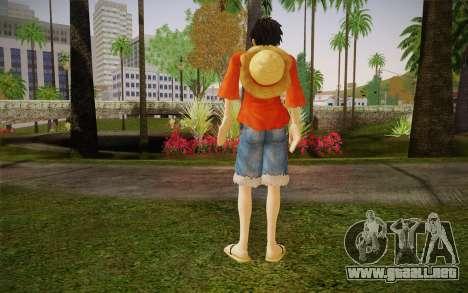 One Piece Monkey D Luffy para GTA San Andreas segunda pantalla