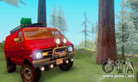 Dodge Tradesman Van 1976 para GTA San Andreas vista posterior izquierda