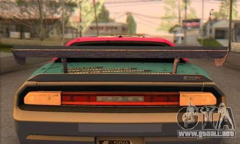 Dodge Challenger SRT8 2012 para visión interna GTA San Andreas