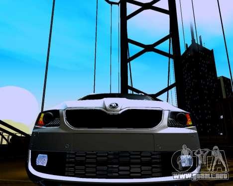 Skoda Octavia A7 Combi para GTA San Andreas vista hacia atrás