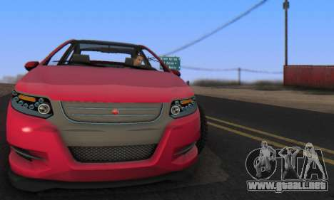 Cheval Surge V1.0 para GTA San Andreas vista posterior izquierda