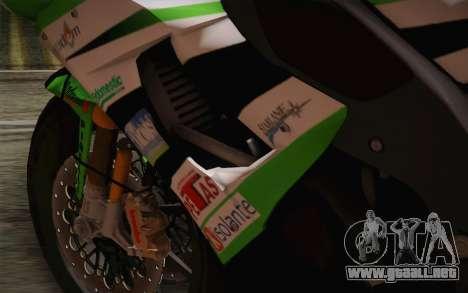 Kawasaki ZX-10R Ninja para visión interna GTA San Andreas