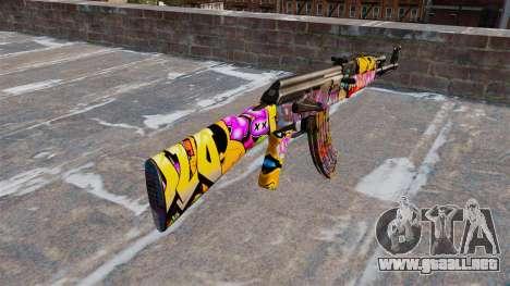 El AK-47 Graffiti para GTA 4 segundos de pantalla