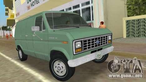 Ford E-150 1983 Short Version Commercial Van para GTA Vice City