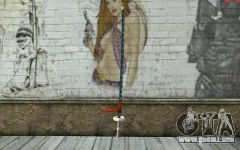 One Piece Sword Trafalgar Law para GTA San Andreas segunda pantalla