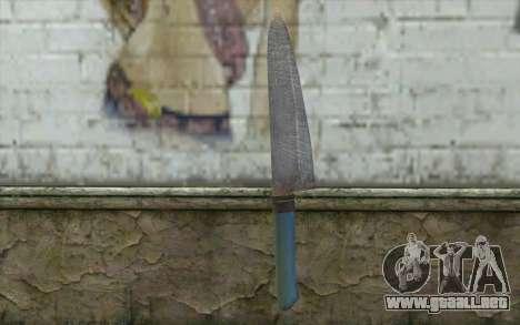 El viejo cuchillo de cocina para GTA San Andreas segunda pantalla