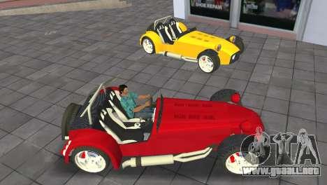 Caterham Super Seven para GTA Vice City visión correcta