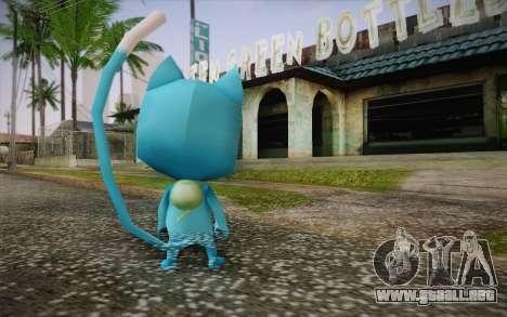 Happy from Fairy Tail para GTA San Andreas segunda pantalla