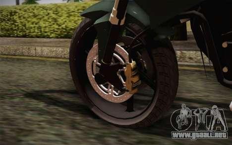 Yamaha FZ6 para GTA San Andreas vista posterior izquierda