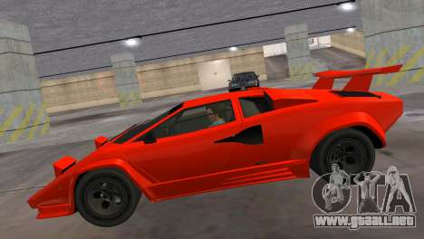 Lamborghini Countach LP5000 Extreme para GTA Vice City vista lateral izquierdo