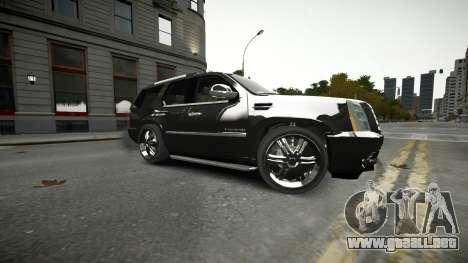 Cadillac Escalade para GTA 4 vista superior