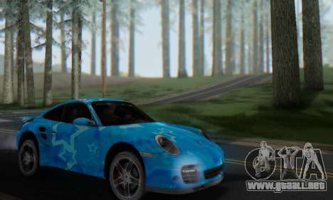 Porsche 911 Turbo Blue Star para visión interna GTA San Andreas