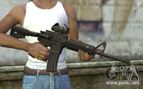 Ricks M4A1 from The Walking Dead S3 para GTA San Andreas tercera pantalla