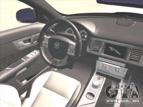 Jaguar XFR para vista lateral GTA San Andreas