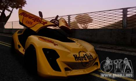 Bertone Mantide 2010 Hard Rock Cafe para GTA San Andreas interior