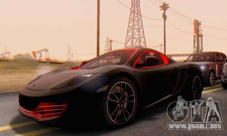Mclaren MP4-12C Spider Sonic Blum para visión interna GTA San Andreas