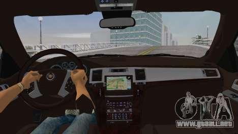 Cadillac Escalade ESV Luxury 2012 para GTA Vice City vista lateral izquierdo