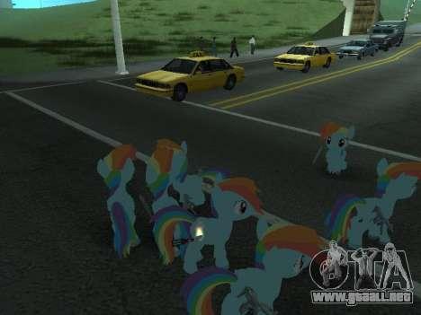 Rainbow Dash para GTA San Andreas octavo de pantalla