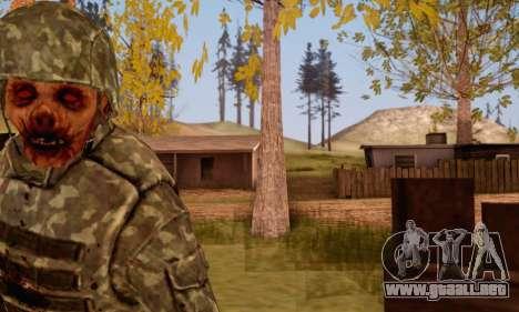 Zombie Soldier para GTA San Andreas sucesivamente de pantalla