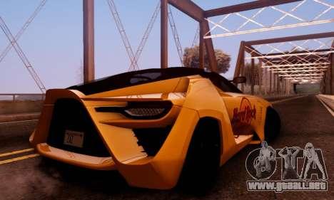 Bertone Mantide 2010 Hard Rock Cafe para visión interna GTA San Andreas