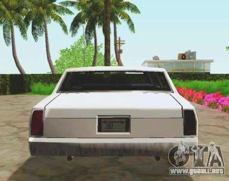 Tahoma Limousine para GTA San Andreas vista hacia atrás
