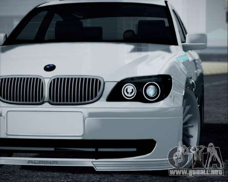 BMW Alpina B7 para GTA San Andreas vista posterior izquierda