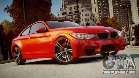 BMW M4 Coupe 2014 v1.0 para GTA 4 vista hacia atrás