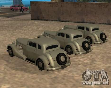 Coche Nuevo (Hustler) para GTA San Andreas vista hacia atrás