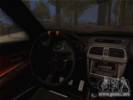 Subaru Impreza Hellaflush para la visión correcta GTA San Andreas