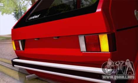 Volkswagen Golf Mk I 1978 para GTA San Andreas vista hacia atrás