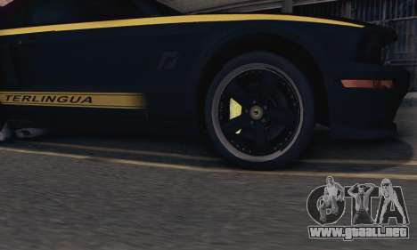 Ford Mustang Shelby Terlingua 2008 NFS Edition para la visión correcta GTA San Andreas