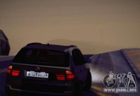 BMW X5M 2013 para GTA San Andreas vista hacia atrás