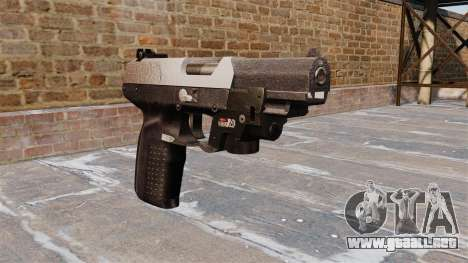 Pistola FN Five seveN LAM Chrome para GTA 4