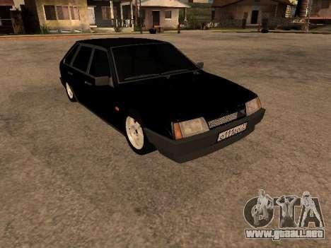VAZ 2109 Gangster nueve V 1.0 para GTA San Andreas vista posterior izquierda