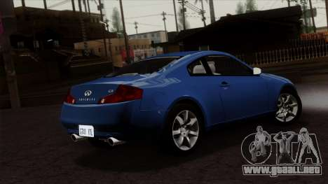 Infiniti G35 Coupe (V35) 2003 para GTA San Andreas left